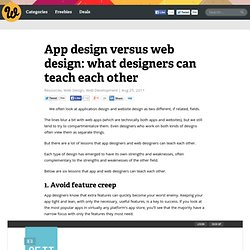 App design versus web design: what designers can teach each other