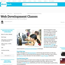 Free Web Design and Development Classes