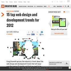 15 top web design and development trends for 2012 | Feature | .net magazine