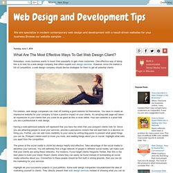 What Are The Most Effective Ways To Get Web Design Client?