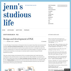 Design and development of PLE « Jenn's Studious Life