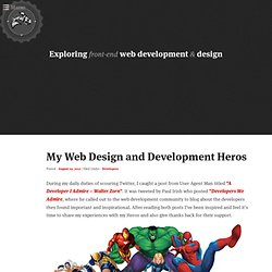 My Web Design and Development Heros | Gray Ghost Visuals Press
