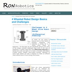 4 Wheel Robot Design using Differential Steering