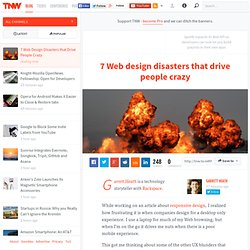7 Web Design Disasters that Drive People Crazy