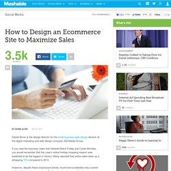 How to Design an Ecommerce Site to Maximize Sales