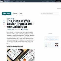 The State of Web Design Trends: 2011 Annual Edition