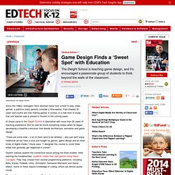 Game Design Finds a 'Sweet Spot' with Education
