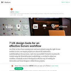 7 UX design tools for an effective Scrum workflow