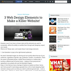 3 Web Design Elements to Make a Killer Website!