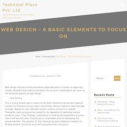 Web Design – 6 Basic Elements to Focus on