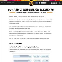 50+ PSD UI Web design elements