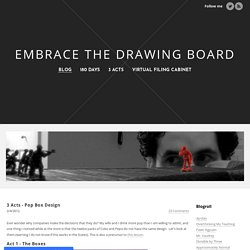 3 Acts - Pop Box Design - Embrace the Drawing Board