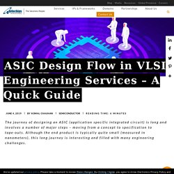 ASIC Design Flow in VLSI Engineering Services – A Quick Guide