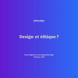 Design et éthique ?