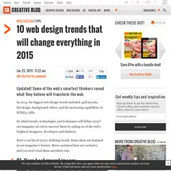 10 web design trends that will change everything in 2015
