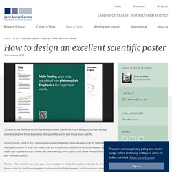 How to design an excellent scientific poster
