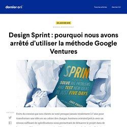 Le design sprint : retour d'expérience après 2 années de pratique