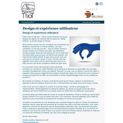 Design et expérience utilisateur