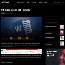 ms-word-design-tab-features \ Page Backgrounds Design