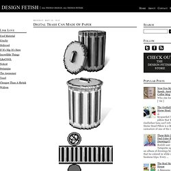 Digital Trash Can Made Of Paper