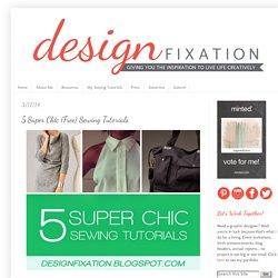 5 Super Chic (Free) Sewing Tutorials