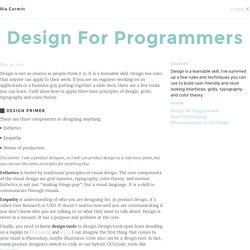 Design for Programmers