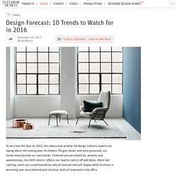 Design Forecast: 10 Trends to Watch for in 2016