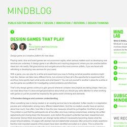 Design games that play « MindBlog