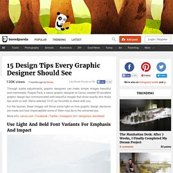15 Design Tips Every Graphic Designer Should See
