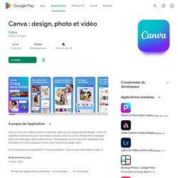 Canva - Studio photo : Designs & collages gratuits – Applications sur GooglePlay