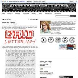 Design: Grid Lettering