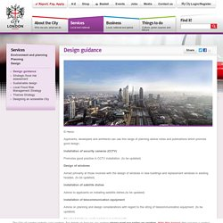 Design guidance - Design - City of London