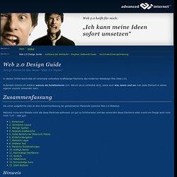 Web 2.0 Design Guide - advanced internet