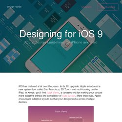 iOS 9 Design Guidelines for iPhone and iPad - Design+Code