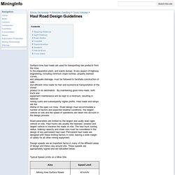 Haul Road Design Guidelines - MiningInfo