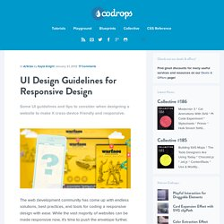 UI Design Guidelines for Responsive Design