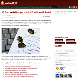 10 Bad Web Design Habits You Should Avoid