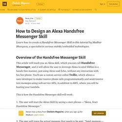 How to Design an Alexa Handsfree Messenger Skill