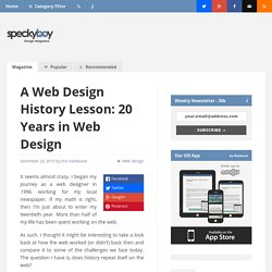 A Web Design History Lesson: 20 Years in Web Design