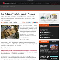 How To Design Your Sales Incentive Programs