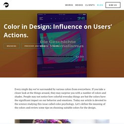 Color In Design: Influence On Users' Actions.