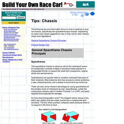 Race Car Design Tips and Information - Chassis