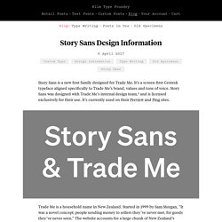 Story Sans Design Information · Klim Type Foundry