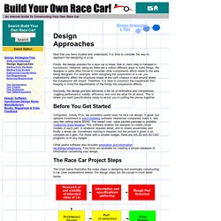 Race Car Design Information, techniques