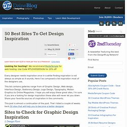 50 Best Sites To Get Design Inspiration | Dzine Blog