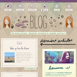 Blog web design et inspiration › Marie Guillaumet