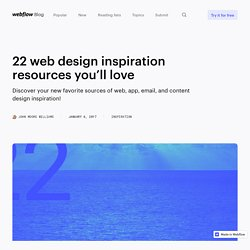 22 web design inspiration resources you'll love