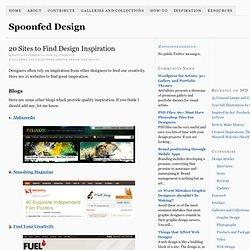 20 Sites to Find Design Inspiration