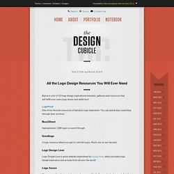All the Logo Design Inspirational Resources You Will Ever Need!