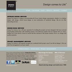 Design First Interiors | Services